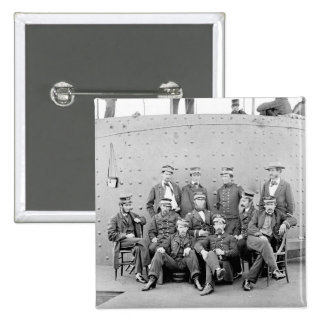 Officers on USS Monitor 1862 Pinback Button