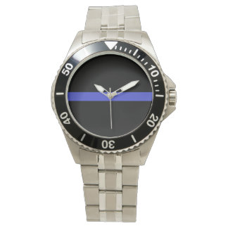 Officer's thin blue line watch