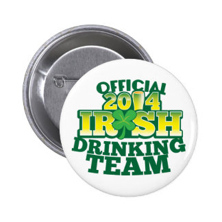 Official 2014 IRISH drinking team 2 Inch Round Button