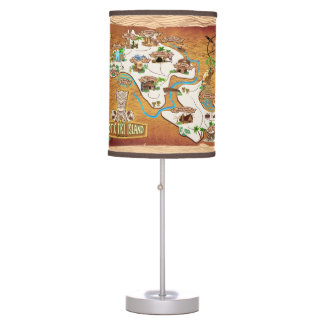 Official 2017 Map of Exotic Tiki Island Lamp