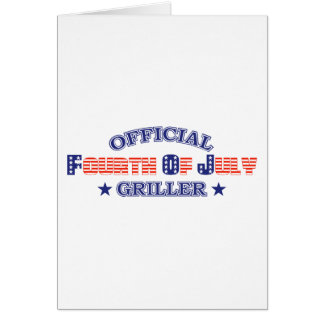 Official 4th Of July Griller Card