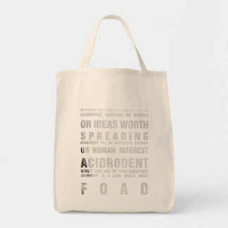 Official Acidrodent Merchandise Grocery Tote Bag