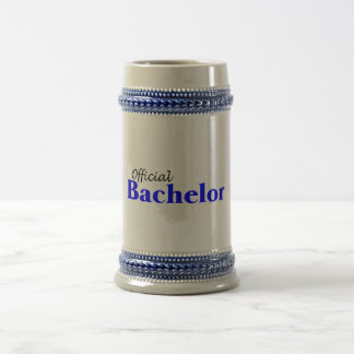 Official Bachelor 18 Oz Beer Stein