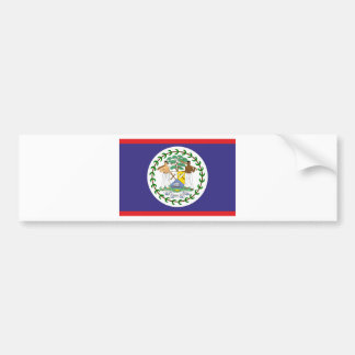 Official belize flag bumper sticker