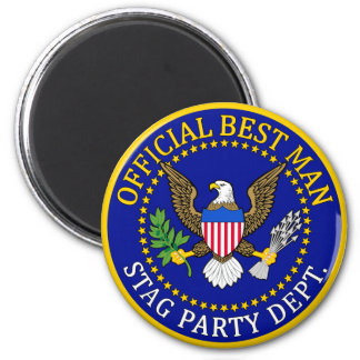 Official Best Man 2 Inch Round Magnet