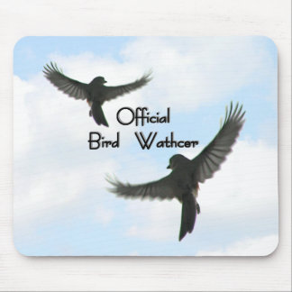 Official Bird Watcher Cloudy Sky Mouse Pad