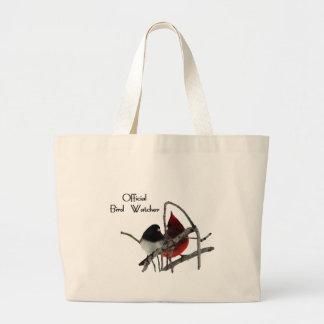 Official Bird Watcher Jumbo Tote Bag