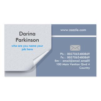 official business card design