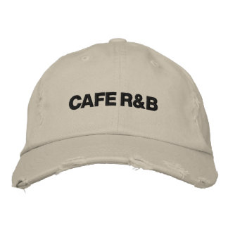 "Official CAFE R&B ""Tattered"" cap Embroidered Hats"