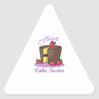 OFFICIAL CAKE TASTER TRIANGLE STICKER