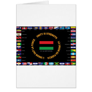 Official Caribbean Unity Flag Card