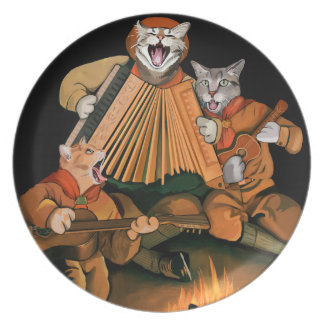 Official Cat Scouts Campfire Retro Melamine Plate