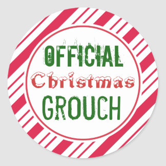 Official Christmas Grouch Stickers