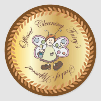 Official Cleaning Fairy's Seal of Approval Sticker