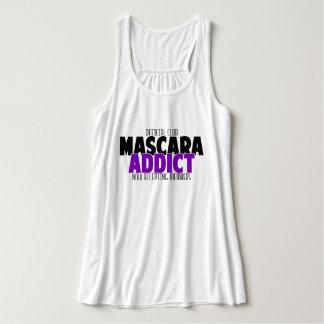 Official Club - Mascara Addict Flowy Racerback Tank Top
