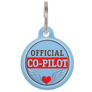 Official Co-Pilot Pet ID Tag