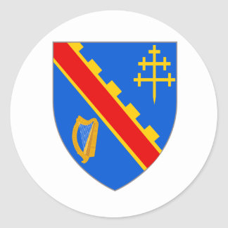 Official Coat Arms Armagh Heraldry Symbol Ireland Round Sticker