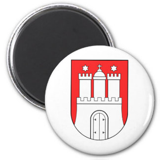 Official Coat of Arms Hamburg Germany Symbol 2 Inch Round Magnet