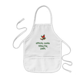 Official Cookie Maker For Santa Kids Apron