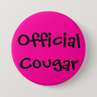 Official Cougar 3 Inch Round Button