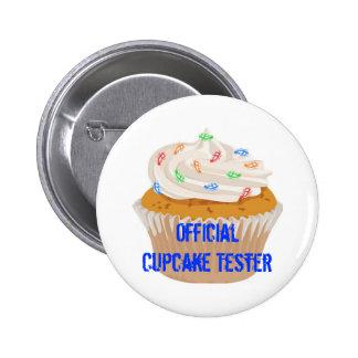 Official Cupcake Tester Button