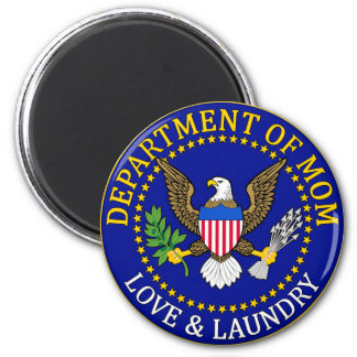 Official Department of Mom Seal 2 Inch Round Magnet