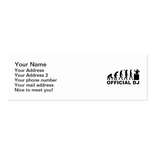 Official DJ Evolution Business Card Template