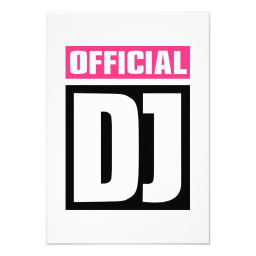 Official DJ Custom Invitation
