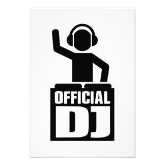 Official DJ Custom Invites