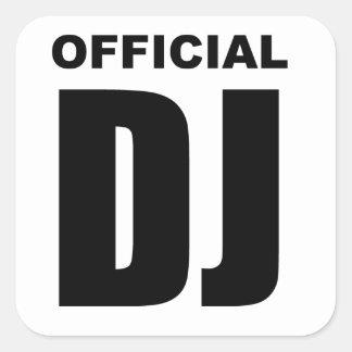 Official DJ Square Sticker