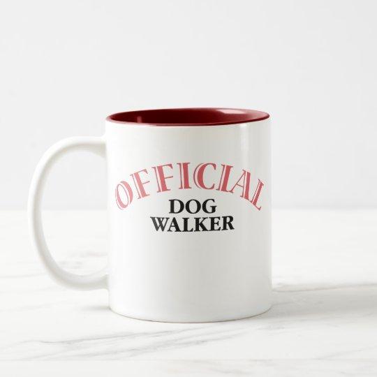 Official Dog Walker - Pink Two-Tone Coffee Mug