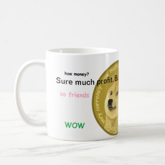 Official Dogecoin Coffee Mug- Such Profit. WOW Coffee Mug