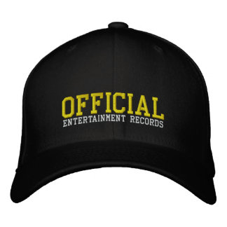 Official Entertainment Fitted Cap Embroidered Hats