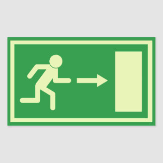 Official Euro Emergency, fire exit sign (right) Sticker