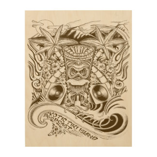 Official Exotic Tiki Island Podcast Wood Prints