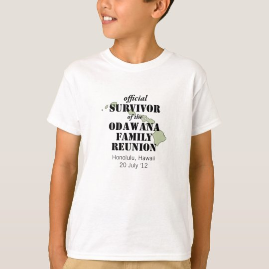 Official Family Reunion Survivor - Hawaii Green T-Shirt