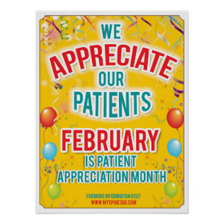 Official February Patient Appreciation Poster