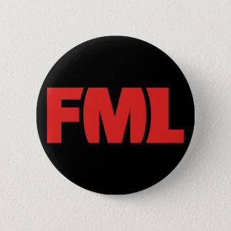 Official FML Badge: FML Red/Black 2 Inch Round Button