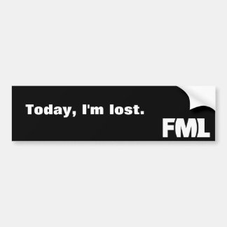 Official FML Sticker: Lost Bumper Sticker