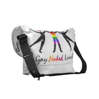 Official GayNakedLunch (GNL) Messenger-Picnic Bag Commuter Bags