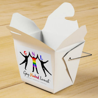 Official GayNakedLunch (GNL) Take Out Box Party Favor Box