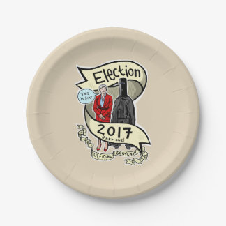 Official GE2017 Laurie Pink Souvenir (paper) Plate