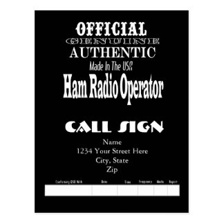 Official Genuine Made USA Ham Radio QSL Card