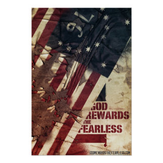 Official God Rewards The Fearless Poster