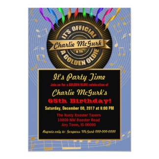 OFFICIAL Golden Oldie Party Invitation