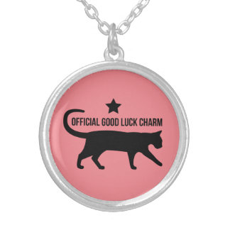 Official Good Luck Charm Silver Plated Necklace