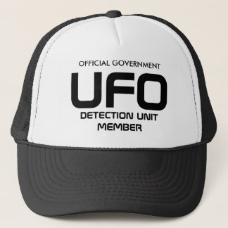OFFICIAL GOVERNMENT, UFO, DETECTION UNIT MEMBER TRUCKER HAT