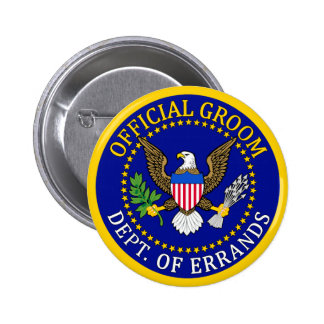 Official Groom 2 Inch Round Button