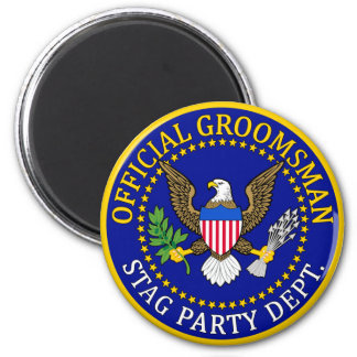Official Groomsman 2 Inch Round Magnet