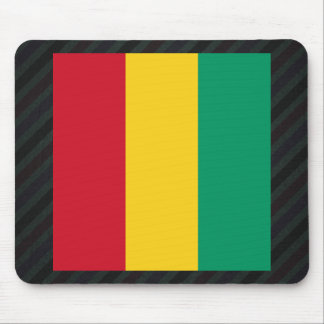 Official Guinea Flag on stripes Mouse Pad